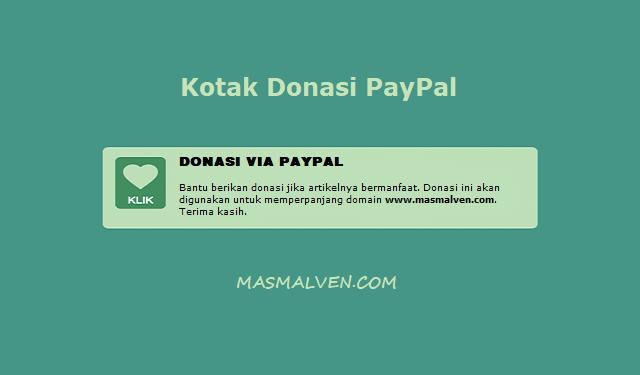 Kotak Donasi Paypal ala Masmalven