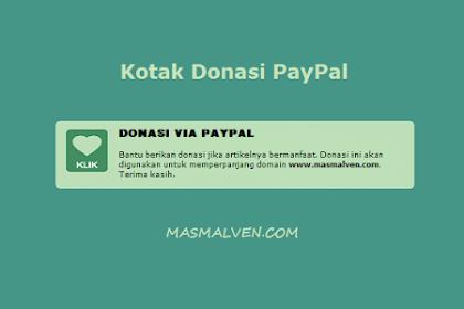 Cara Membuat Kotak Donasi Paypal Ala Masmalven