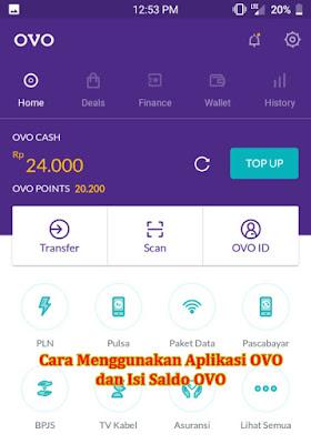 Cara Menggunakan Aplikasi OVo dan Isi Saldo OVO