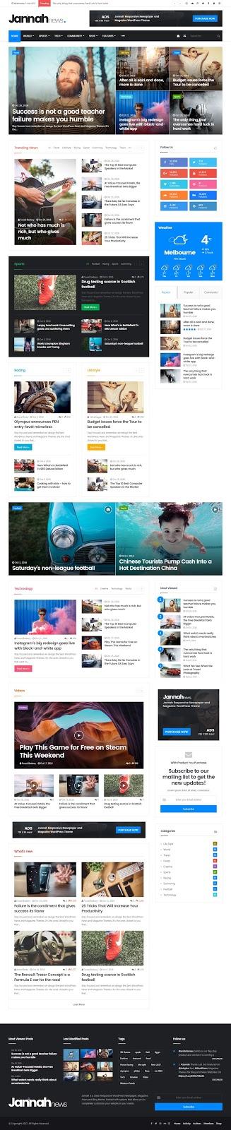 Jannah WordPress Theme WordPress News Magazine theme