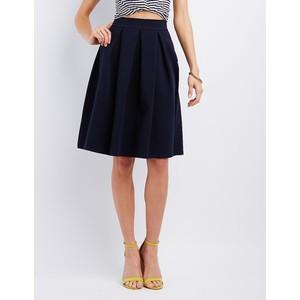 Charlotte Russe's Plain Navy Midi Skirt