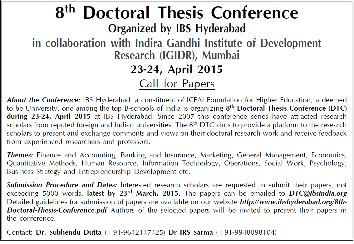 Doctoral thesis conference