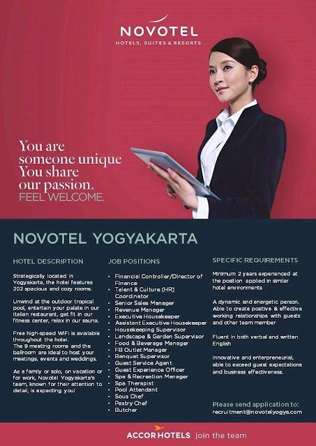Lowongan kerja Novotel Yogyakarta 2018