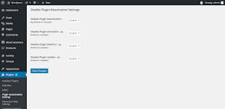 Deshabilitar la configuración de desactivación de plugins