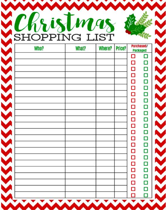 Family Christmas Gift Lists.Christmas Shopping Christmas Gifts What Do You Do