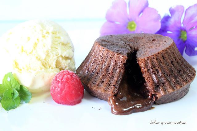 Coulant de chocolate. Julia y sus recetas