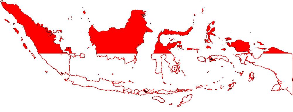 Peta Indonesia PNG
