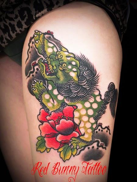 タトゥー TATTOO  唐獅子 牡丹 和彫 刺青