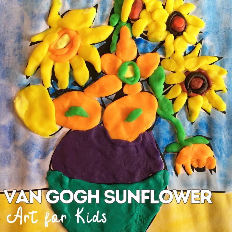 Van Gogh Sunflowers famous artists for kids