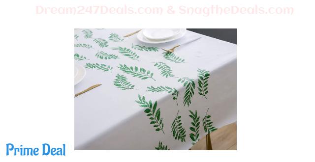 50%OFF pvc tablecloth (leaf)