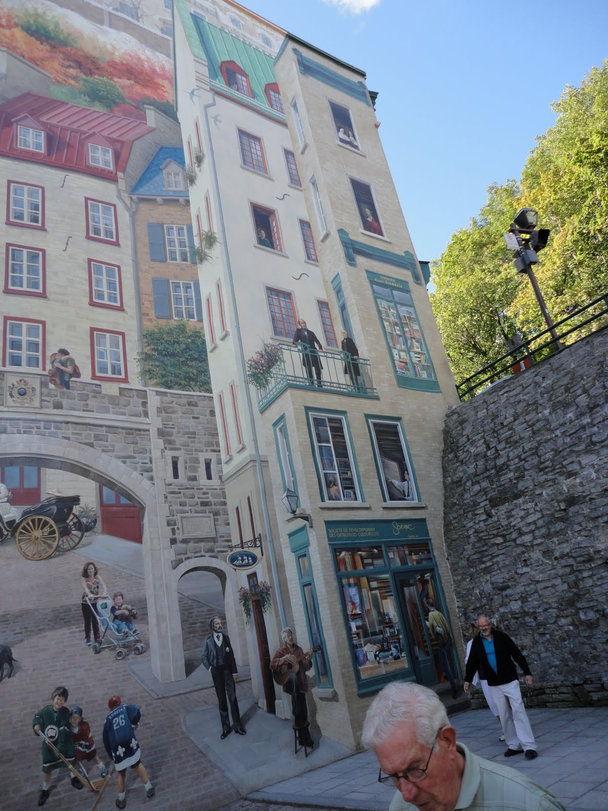 Artscapes Roofs Walls And Stones Illusionism In Quebec