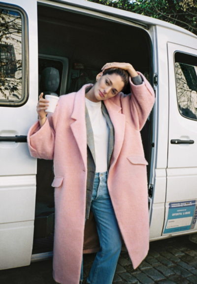 Pink Coat for Winter