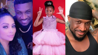 Peter Okoye, His Wife, Lola Omotayo And Their Daughter, Aliona