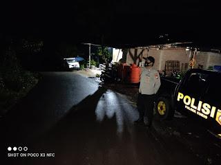 Tanggap Kamtibmas, Bhabinkamtibmas Polsek Curio Pantau Lingkungan Warganya Dengan Lakukan Patroli Blue Light