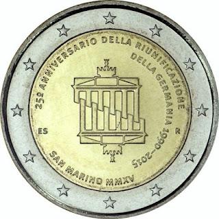 2€ Réunification Allemande 2015 Saint-Marin