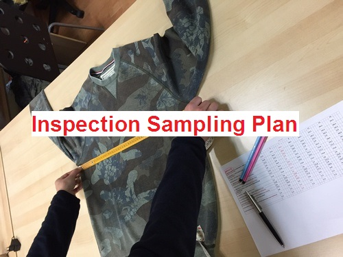 Inspection sampling plan