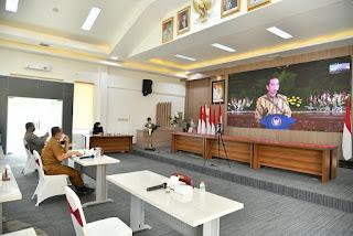 Secara Virtual, Bupati Batu Bara Rapat Koordinasi Dengan Presiden Jokowi