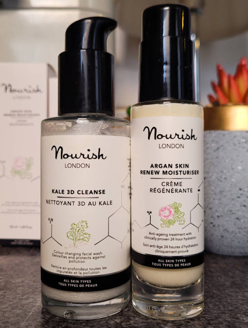 Nourish London Skincare Kale 3D Cleanse and Argan Skin Renew Moisturiser