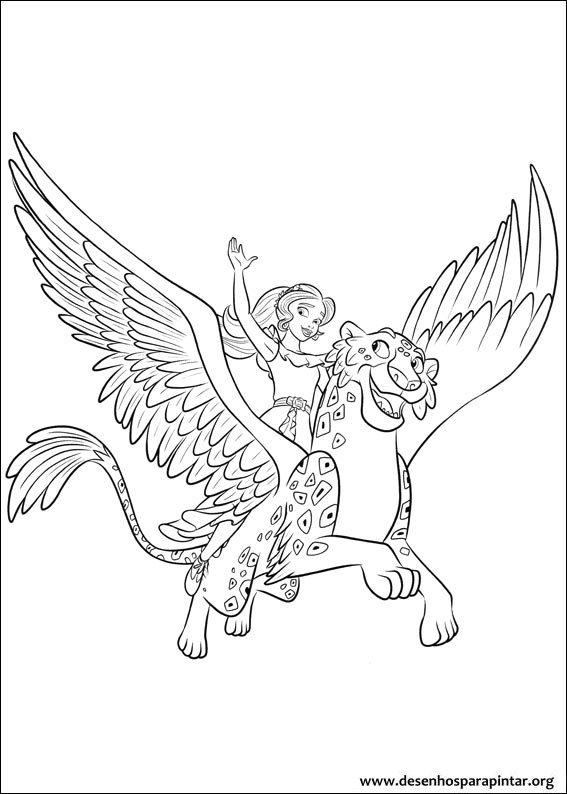 Desenhos Para Imprimir Colorir E Pintar Elena De Avalor Desenhos