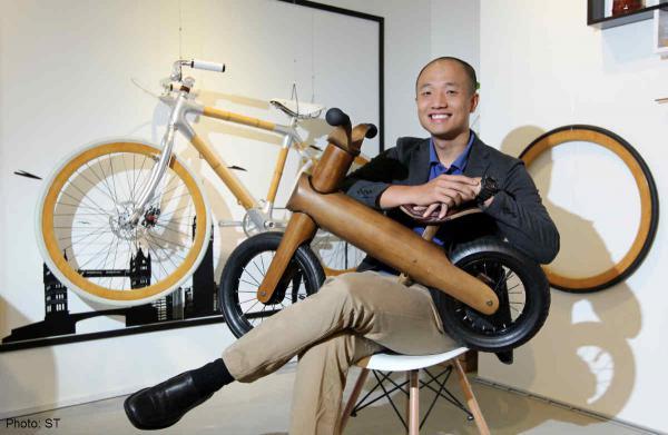 Kreasi sepeda unik dari bambu
