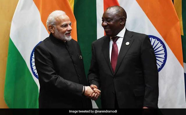 Ramaphosa Meets PM Modi