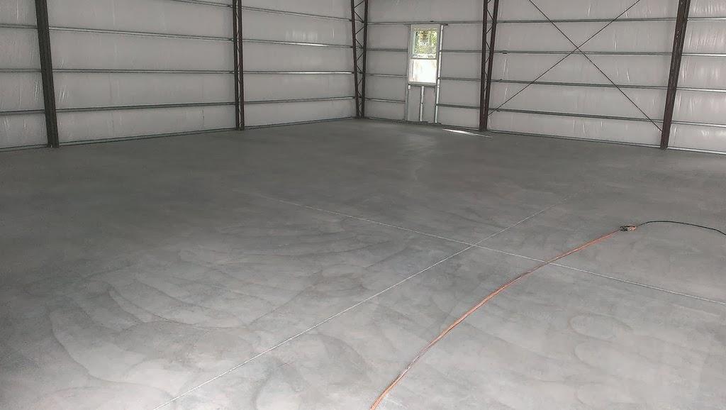 Epo- Floors: Columbia Shop, grey epoxy with titanium wash in urethane