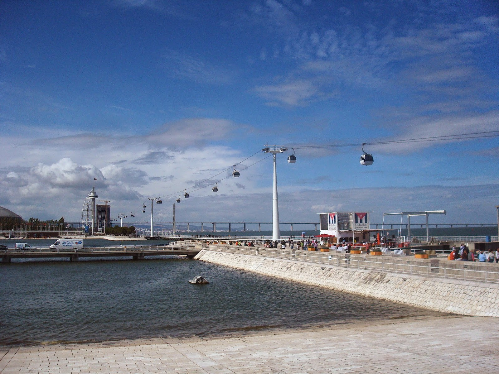 Torre Vasco de Gama and Cable Cars to the Oceanarium, Lisbon, Portugal