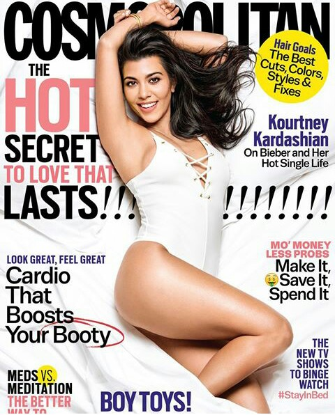 Kourtney Kardashian Covers Oct-Issues Of Cosmopolitan Magazine,