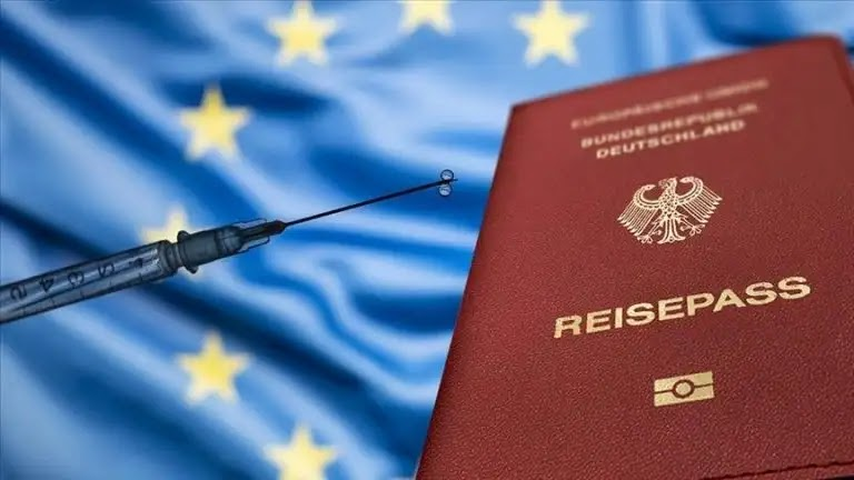 """The date for the approval of """"Covid passports"""" ... the """"Pfizer and Biontech"""" vaccine, the """"Moderna"""" vaccine, the """"AstraZeneca"""" vaccine and the """"Johnson & Johnson"""" vaccine."""