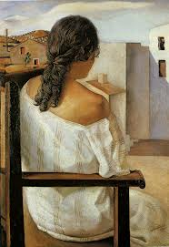 Seated Girl Seen from the Rear by Salvador Dali