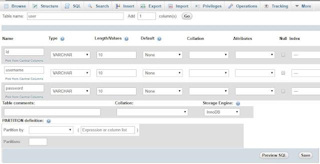 Langkah 1: Buat Database