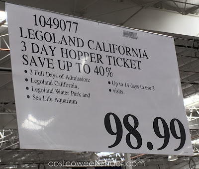 Deal for the Legoland California 3-day Hopper Ticket at Costco