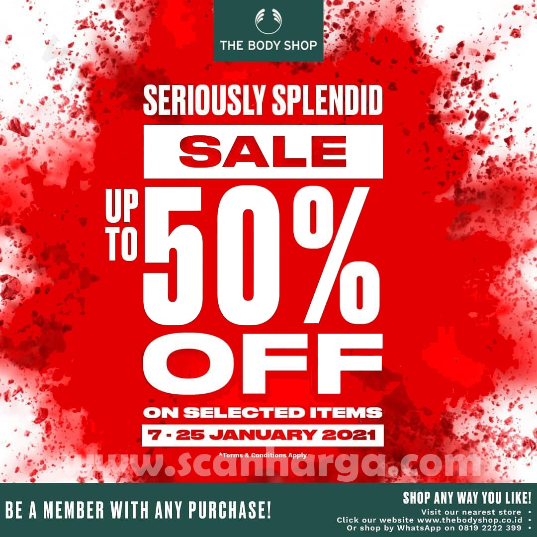 Promo The Body Shop Terbaru! SALE Up To 50% Off Selected Items