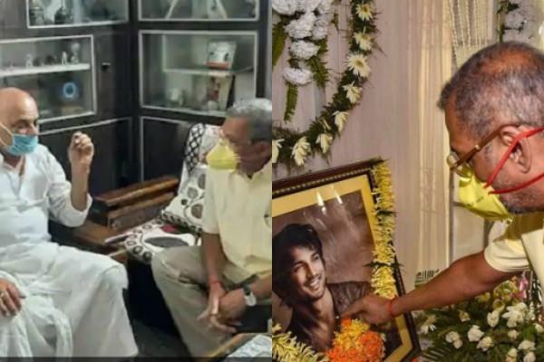 nana patekar arrives at sushant singhs house