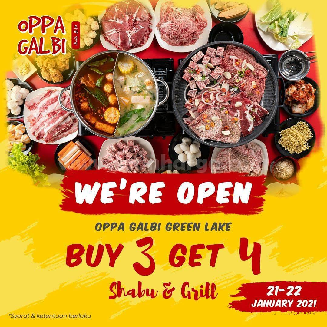 OPPA GALBI GREEN LAKE CITY Special Opening Promo – Beli 3 Dapat 4