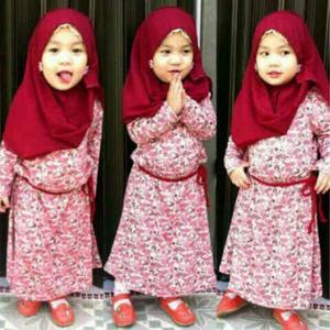 Baju Muslim Anak Perempuan Umur 1 Tahun
