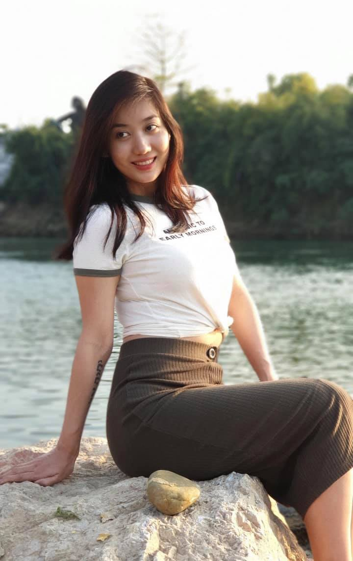 Myanmar Model Lu Lu Aung latest fashion outfit style