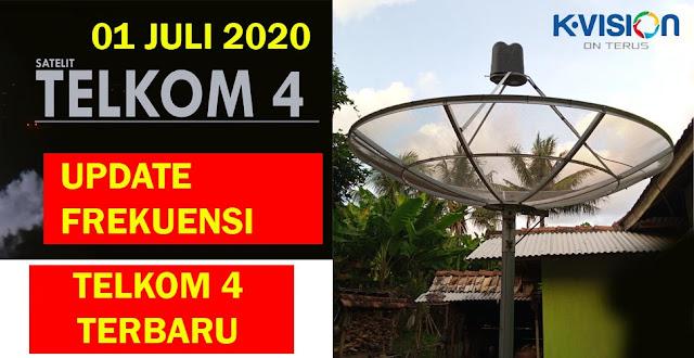 UPDATE FREKUENSI TELKOM 4 TERBARU 01 JULI 2020
