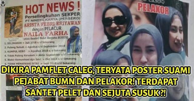 Dikira Pamflet Caleg, Ternyata Poster Foto Suami Pejabat BUMN dan Pelakor! Santet Pelet dan Sejuta Susuk