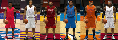 NBA 2K13 Missing Christmas and Alternate Jerseys