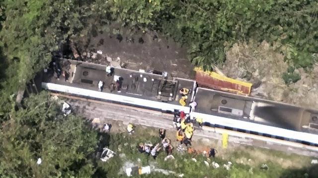 Ταϊβάν: 36 νεκροί από εκτροχιασμό τρένου μέσα σε τούνελ