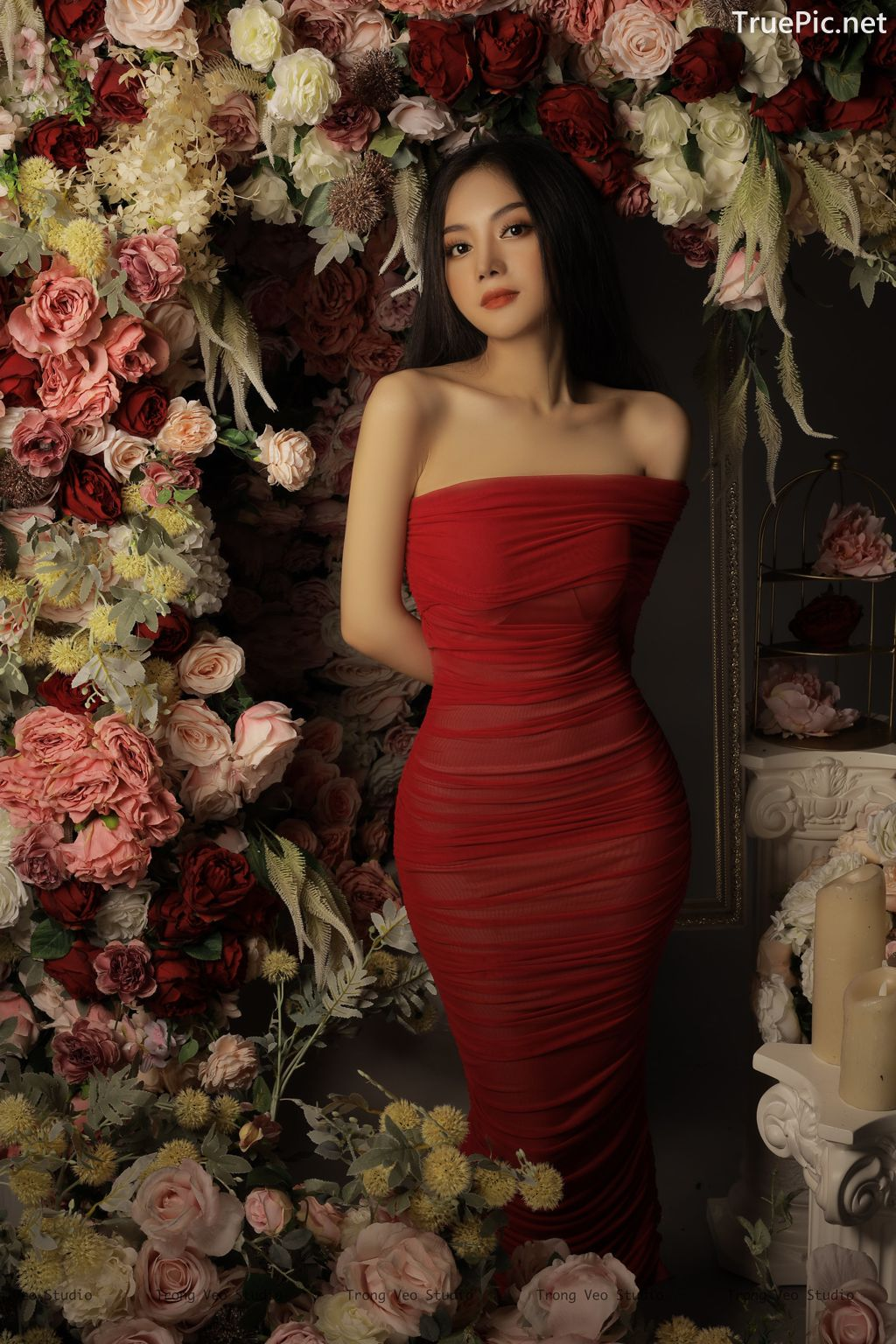 Image Vietnamese Model - Beautiful Girl and Flowers - TruePic.net - Picture-3