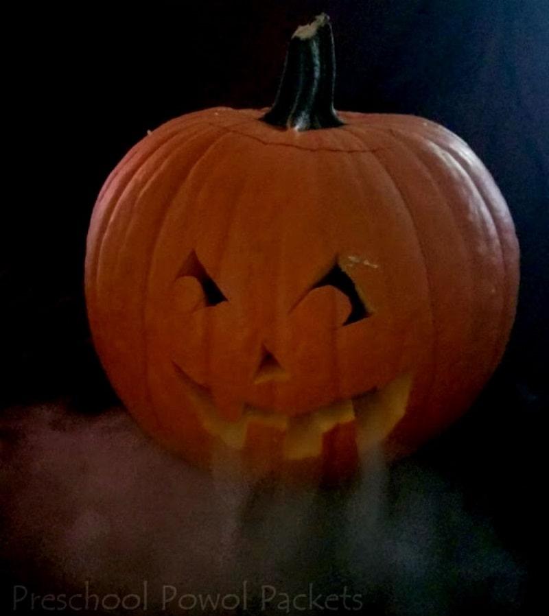 dry ice pumpkin