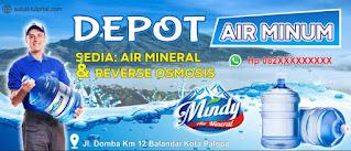 Download Spanduk Depot Air Isi Ulang CDR