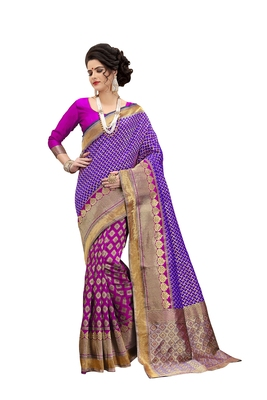 Multicolour Banarasi Art Silk Saree