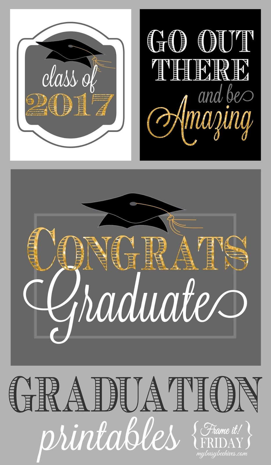 My Busy Beehives: Graduation Printables {Frame it
