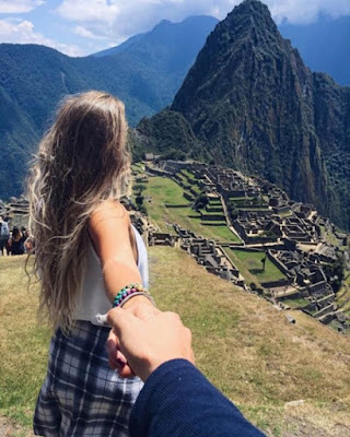Foto tumblr en pareja goals Machu Picchu