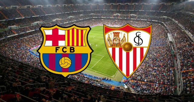 مباراة برشلونة وأشبيلية بث مباشر
