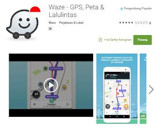 Waze aplikasi info jalur arus mudik untuk android - AnekaTekno.com