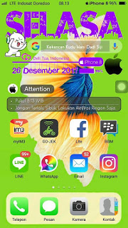 Tema Oppo iPhone 8 Hijau for Oppo A37